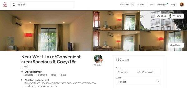 Cách đặt phòng của Toàn Tiến Housing trên Airbnb