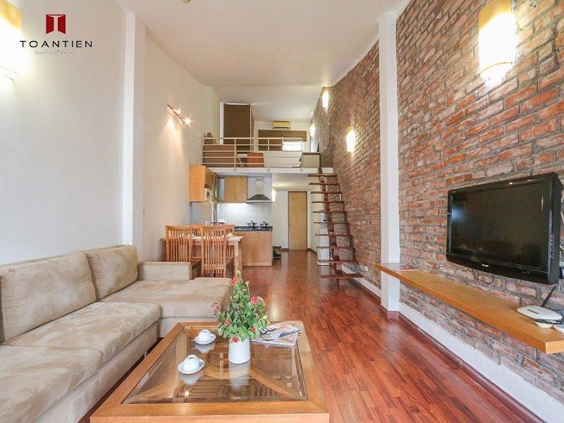Thiết kế tường gạch độc đáo với đầy đủ tiện ích tại căn hộ số 6 Tràng An