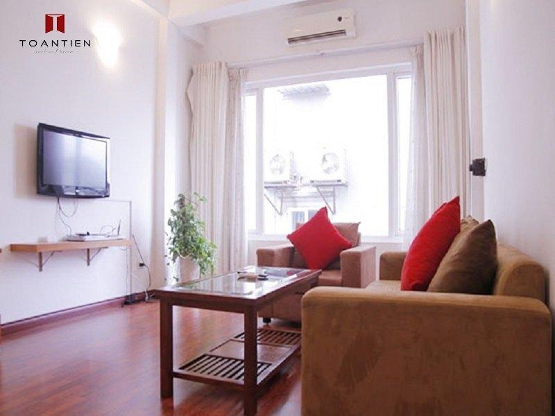 Trải nghiệm dịch vụ phòng khách hiện đại, tiện nghi trong căn hộ số 11 Tràng An